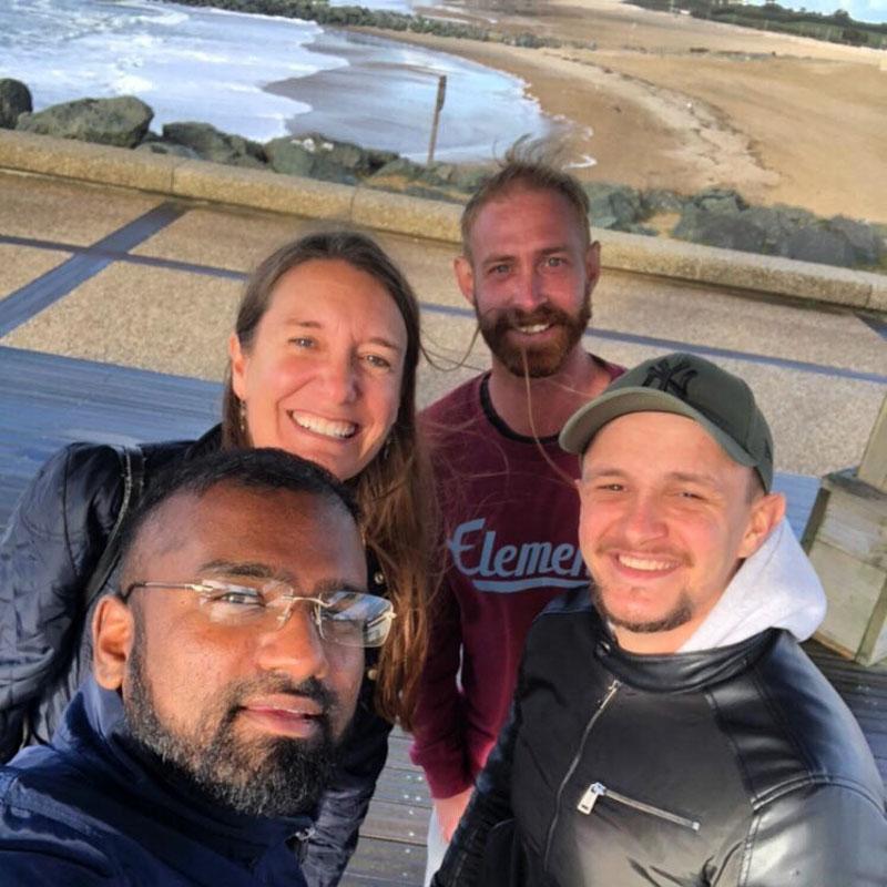 Anglet plage avec JD, Simon et Matt