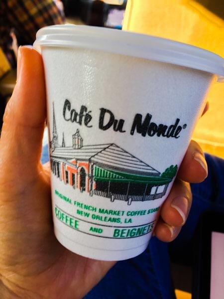 America, Café du Monde and Lache Pas La Patate